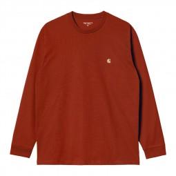 T-shirt manches longues Carhartt Chase orange foncé
