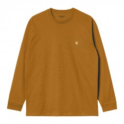 T-shirt manches longues Carhartt Chase jaune moutarde