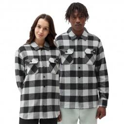 Chemise à carreaux Dickies New Sacramento noir vert clair
