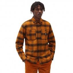 Chemise à carreaux Dickies Evansville noir orange