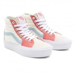 Chaussures Vans Sk8-Hi Platform Pastel Block écru