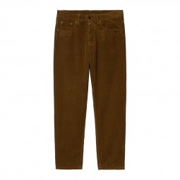 Pantalon velours côtelé Carhartt Newel Pant marron