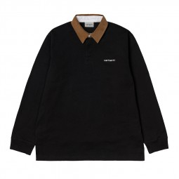 Polo rugby manches longues Carhartt noir