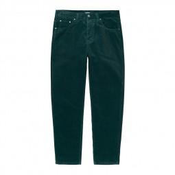 Pantalon velours côtelé Carhartt Newel Pant vert