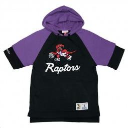 Sweat capuche manches courtes Raptors Mitchell & Ness noir violet