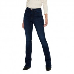 Jeans Only Paola taille haute bleu