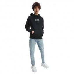 Jeans slim tapered homme Calvin Klein bleu clair délavé