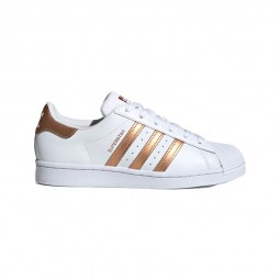 Adidas Superstar Junior blanc doré