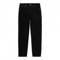 Pantalon velours côtelé Carhartt Newel Pant noir
