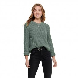 Pull manches longues Only femme vert