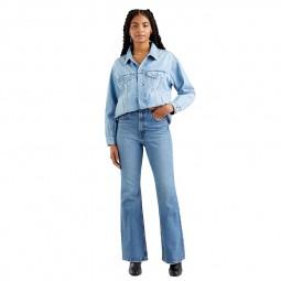 Jean's Levi's® taille haute pattes d'eph 70's bleu délavé