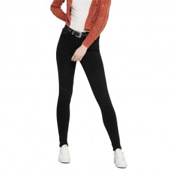 Jeans Only Paola taille haute noire