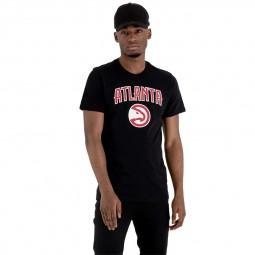 T-shirt New Era Hawks Atlanta noir