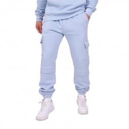 Pantalon jogging cargo Project X Paris bleu ciel