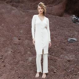 Gilet robe Grace & Mila Damira beige