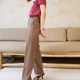 Pantalon droit Grace & Mila Damoiseau carreaux