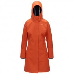 Manteau femme KWAY Stephy Bonded rouge corail