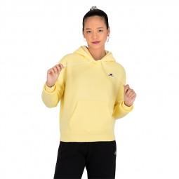 Sweat à capuche Champion petit logo jaune
