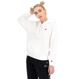 Sweat à capuche Champion petit logo blanc
