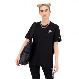 T-shirt Champion femme oeuf bacon noir
