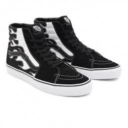 Chaussures Vans Sk8-Hi flamme noir blanc