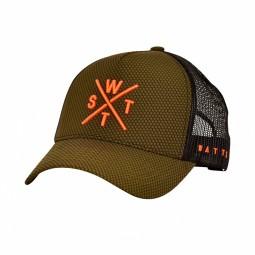 Casquette WATTS Tribe kaki logo orange