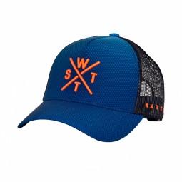 Casquette WATTS Tribe bleu logo orange