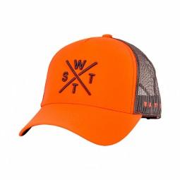 Casquette WATTS Tribe orange logo noir