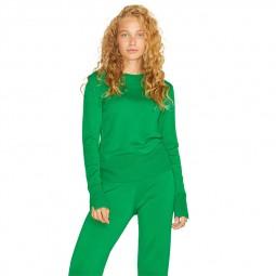 Pull col rond femme JJXX en maille vert