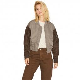 Bomber femme JJXX Kemp Pilot Jacket beige marron