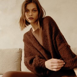 Pull maille Grace & Mila Daddy marron