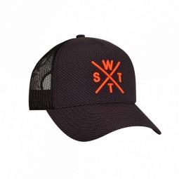 Casquette WATTS Tribe noire logo orange