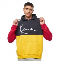 Sweat à capuche Karl Kani Block Teddy bleu marine rouge jaune