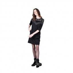 Robe droite haut dentelle Lili Sidonio noire