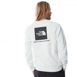 Sweat manches longues raglan The North Face blanc