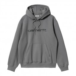 Sweat à capuche Carhartt gris acier