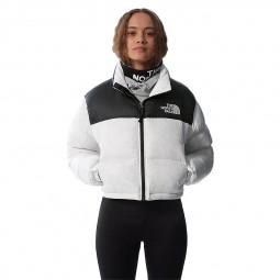 Doudoune courte femme The North Face blanc