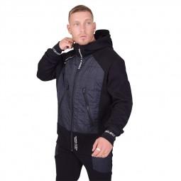 Veste zippée capuche à empiècements Project X Paris noire