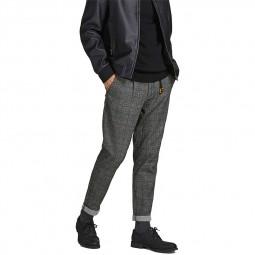 Pantalon chino à carreaux Jack & Jones gris