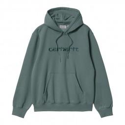 Sweat à capuche Carhartt vert eucalyptus
