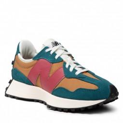 Sneakers New Balance 327 marron vert bordeaux