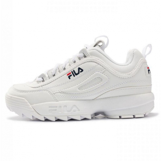 chaussures fila mixte homme femme disruptor low white blanc. Black Bedroom Furniture Sets. Home Design Ideas