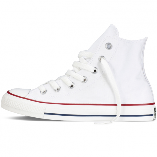 Chaussures Hommes Femmes Converse Blanche All Star Montante