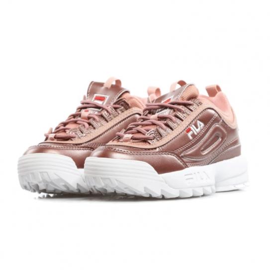 chaussure fila rose brillant