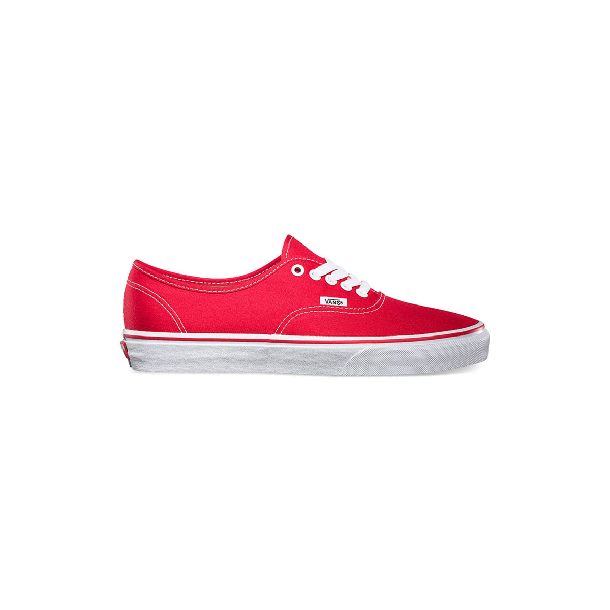 Red Baskets Chaussures Authentic Vans Classic Skate Femme Rouge xpwqIOw