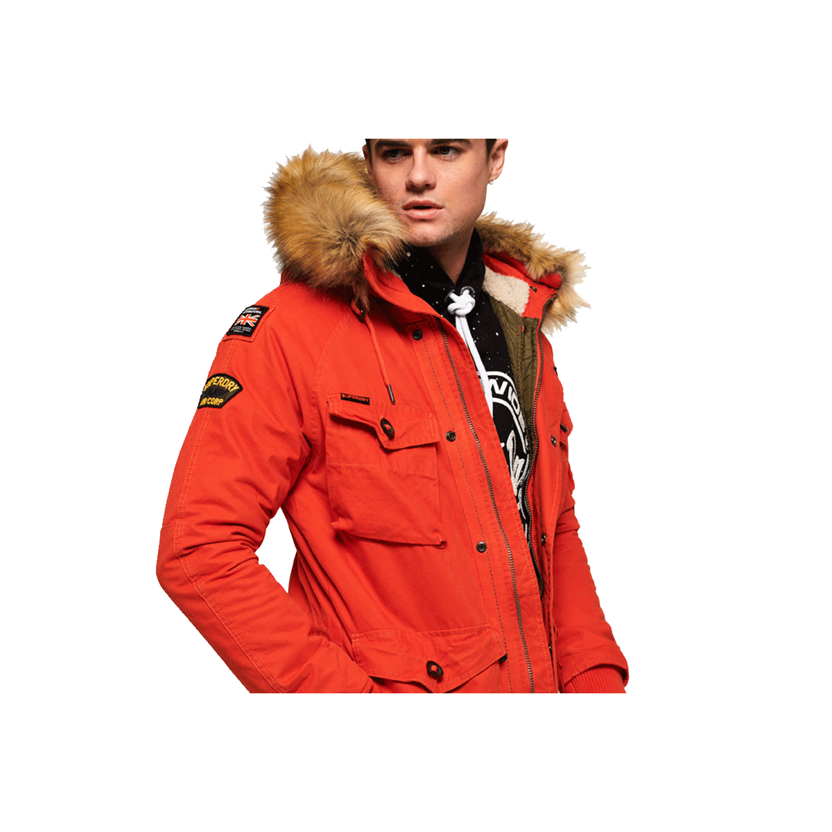 Homme Orange Manteau M50003 Superdry Xiaqwkzv Qpp6wnpa Heavy Weather wUAqAPzI