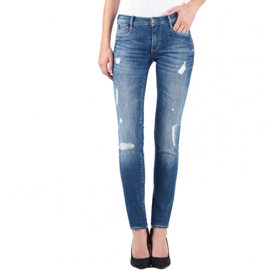 e68b3e15be7e7 Jeans Femme Le Temps Des Cerises LTC Slim WSS358 Bleu Délavé Destroy