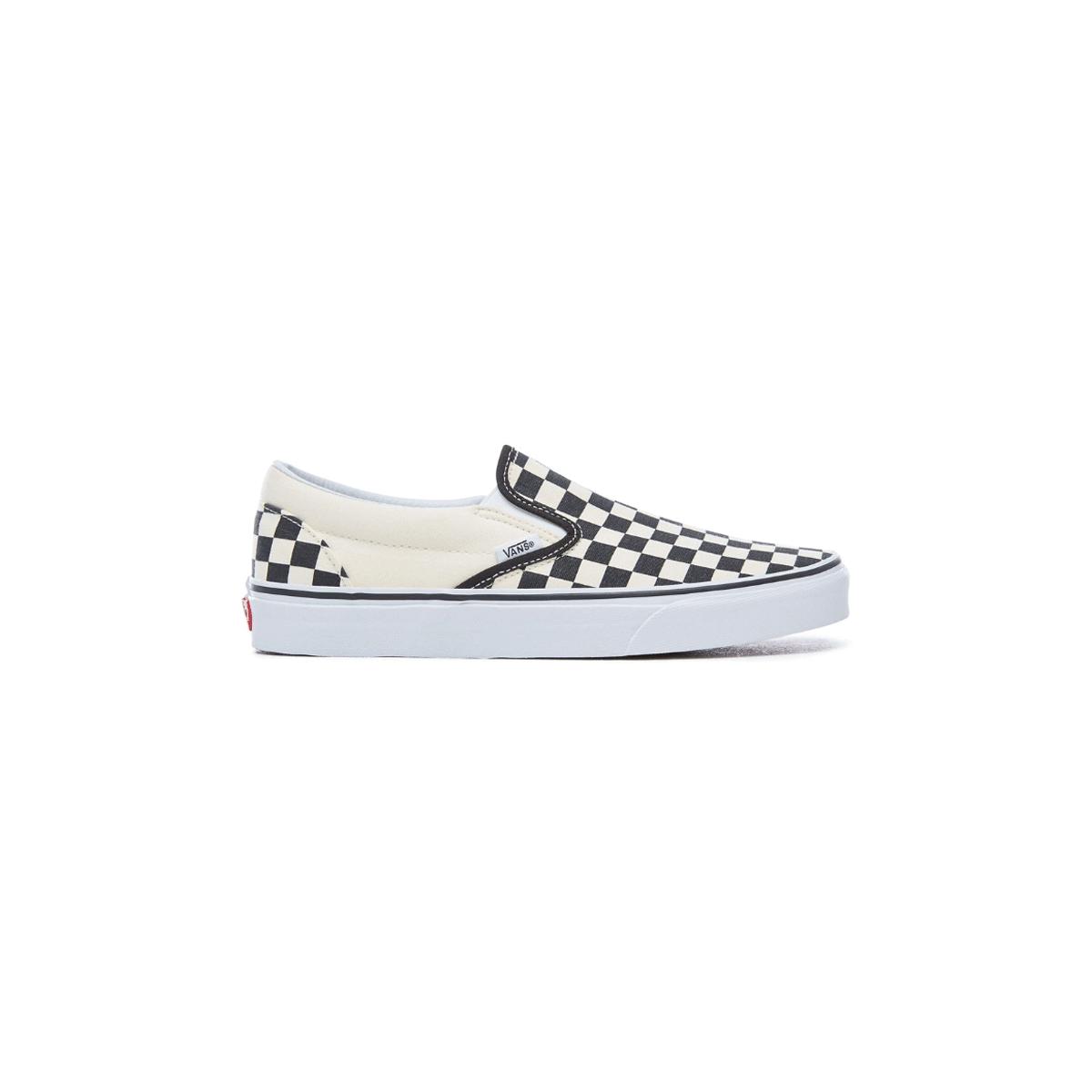 a683fccce1111 Check Chaussures Blanc Vans Noir Classic Damier Slip Mixte On Carreaux  nYxYw8aqrR