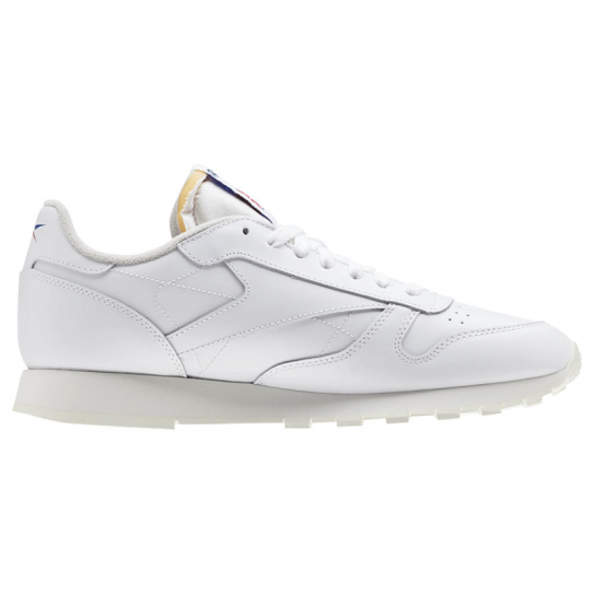 915b444cac570 Chaussures Reebok Mixte Classic Leather Vector DV4629 Blanc Logo Noir